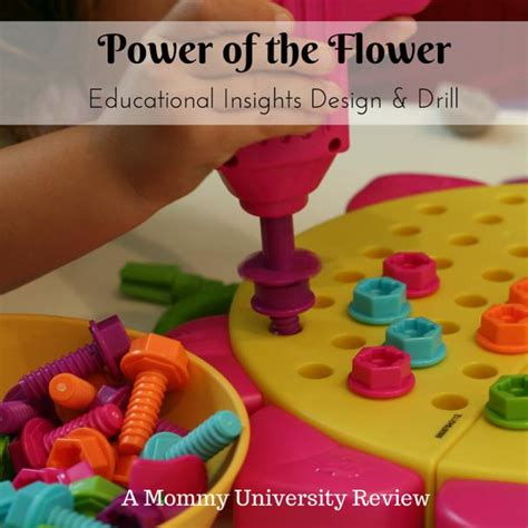 design and drill flower power of the flower design and drill toy review mommy