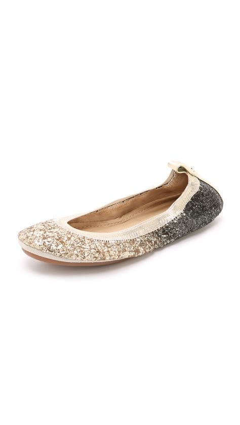 silver shoes flats yosi samra serena glitter ballet flats oxidized silver