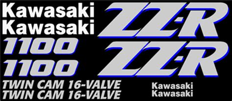 Aufkleber Kawasaki Zzr 1100 by Graphics And Stickers Decals For Kawasaki Zzr1100