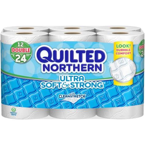 northern bathroom tissue quilted northern ultra soft strong toilet paper 12