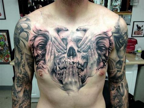 tattoo chest skull 30 best chest tattoos for men