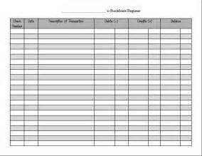 checkbook register template check register template image search results