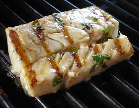 grilled marinated halibut with picante cilantro mayo recipe food com