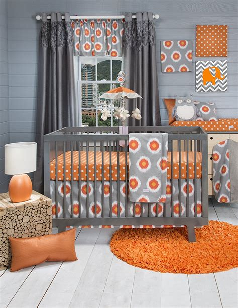 orange nursery curtains beautiful orange bedding webnuggetz