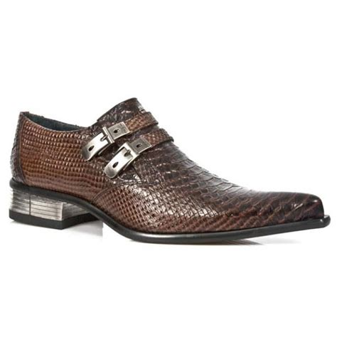 snake shoes new rock m 2246 s22 brown newman snakeskin shoes formal
