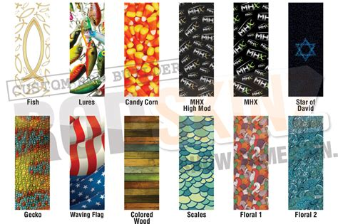 Decorative Pole Wraps by Rod Skinz Decorative Wraps Mudhole