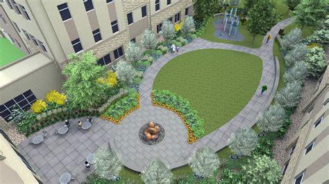 castle rock adventist health campus courtyard garden