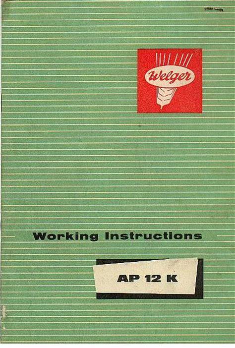 What Makes A Good Home Welger Baler Ap12 K Operators Manual Ap12k