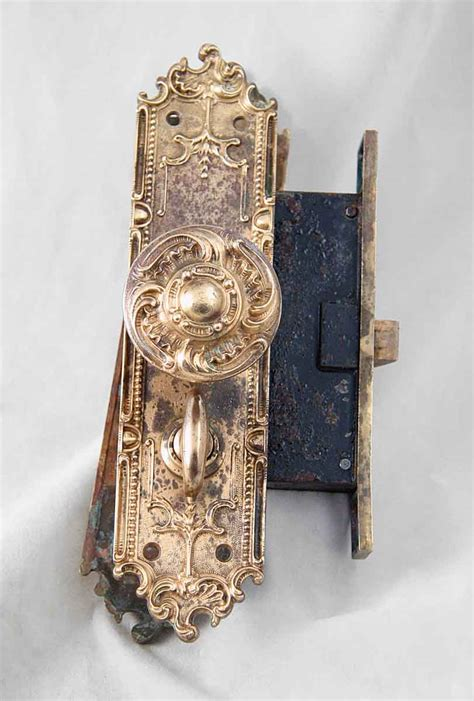 Antique Door Knob Sets by Antique Interior Ornate Mortise Lock Set By Corbin Olde Things