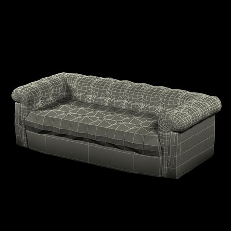 6 foot couch edward wormley dunbar six foot tufted leather sofa 3d