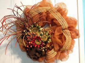 decorative wreaths for the home tangled wreaths fall d 233 cor wreath deco mesh earth tones tangled wreaths