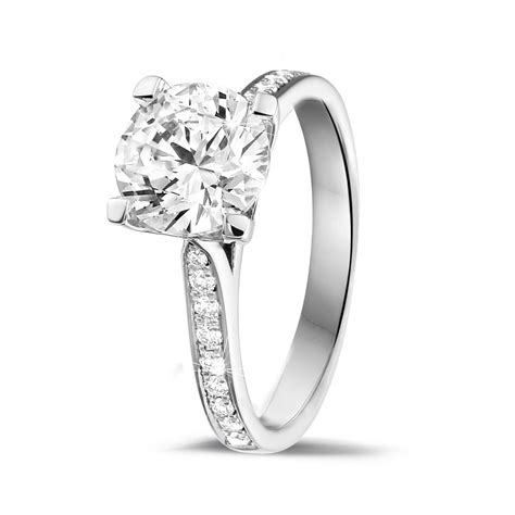 platinum engagement rings 2 00 carat baunat