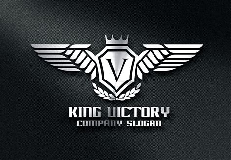 King Victory Logo Templates On Creative Market Motorcycle Club Logo Template Free