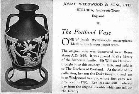 The Portland Vase by Wedgwood Series The Finished Work The Portland Vase And