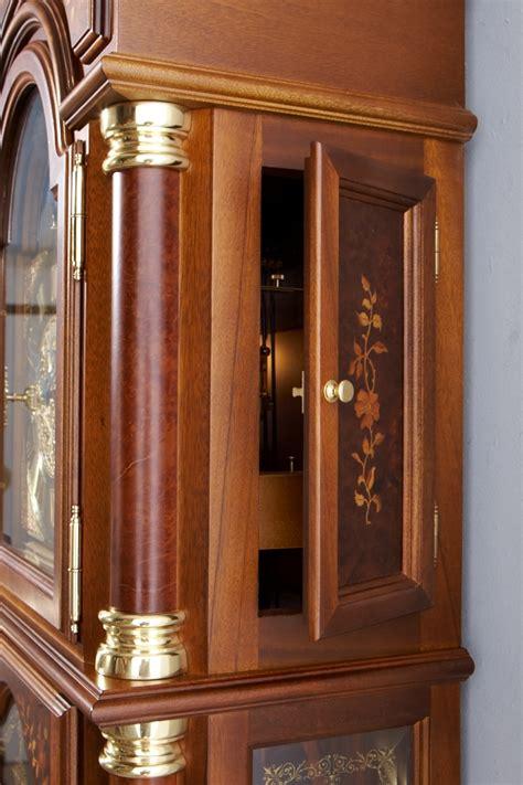 standuhr kieninger grandfather clocks vintage clock with wooden ornaments