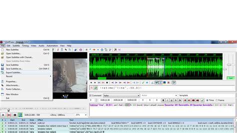 tutorial membuat video karaoke cara membuat subtitle karaoke di aegisub sopwere