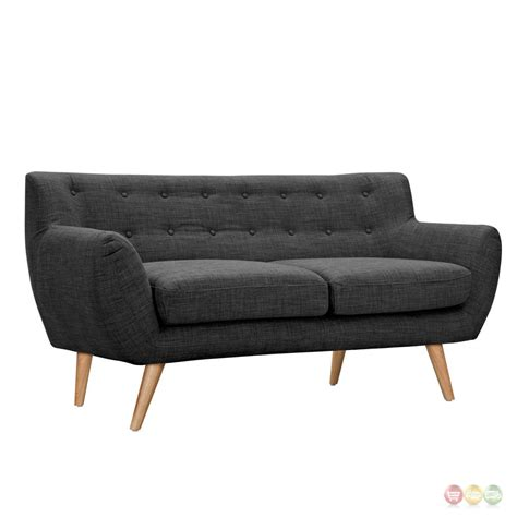 button tufted loveseat ida modern dark grey button tufted upholstered loveseat w