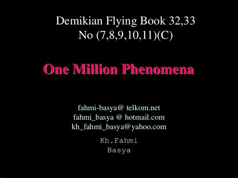 One Million Phenomena one million phenomena 7891011 c
