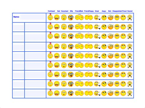 behavior chart template 11 free word excel pdf format