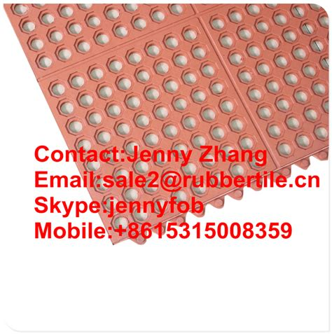 Rubber Door Mats With Holes Interlocking Design Safety Grid Mattings Rubber With