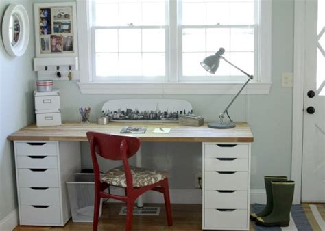 diy office desk made from ikea kitchen components ikea simple ikea office makeover