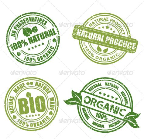design organic label green grunge labels by satyr graphicriver