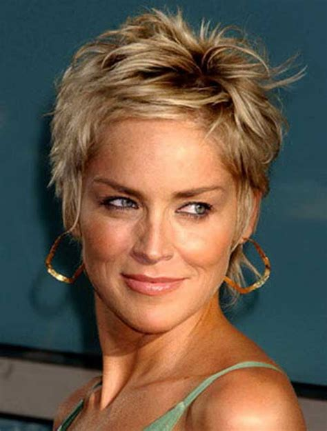 sharon stone short hair on round face best sharon stone short hairstyles long hairstyles