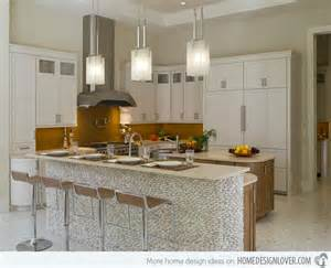 Glass Backsplash Ideas For Kitchens 15 distinct kitchen island lighting ideas home design lover
