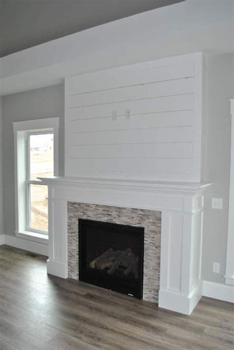 shiplap fireplace white shiplap fireplace with perfectly placed outlets for