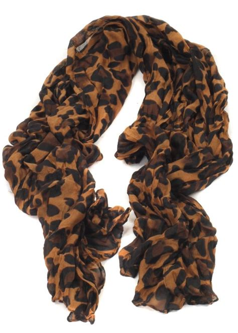 leopard print scarf large brown leopard scarf