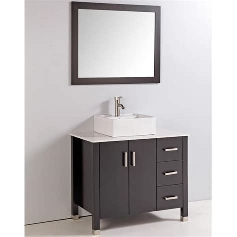 artificial top 36 inch single sink bathroom vanity