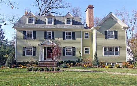 colonial house exterior renovation ideas center hall colonial renovation addition traditional exterior new york by