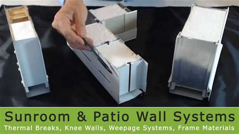 affordable sunroom kits wall systems youtube