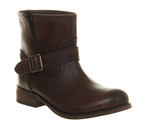brown biker boots office minder biker boot brown leather ankle boots