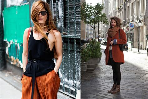 what color goes with rust how to wear rust color dress like a parisian