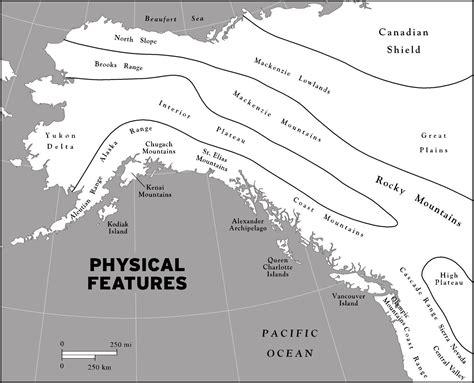 physical map of alaska printable travel maps of alaska moon travel guides