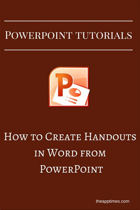 microsoft powerpoint tutorial handout in this powerpoint tutorial we ll show you how to create