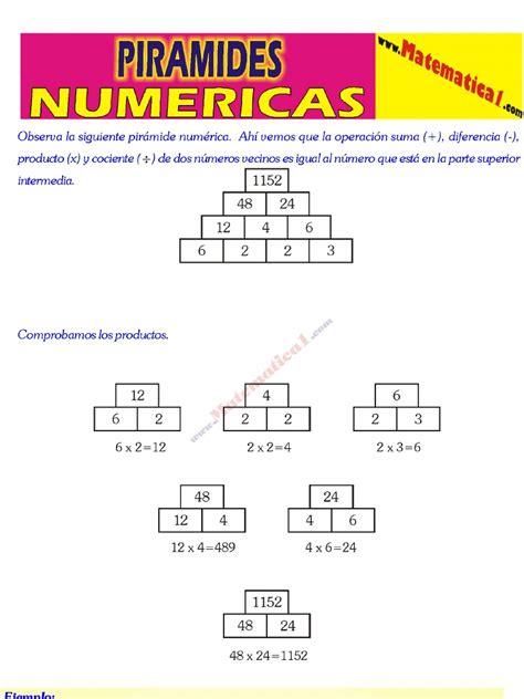 suma en piramides numericas de tercer grado de primaria 2 piramides numericas y operaciones combinadas