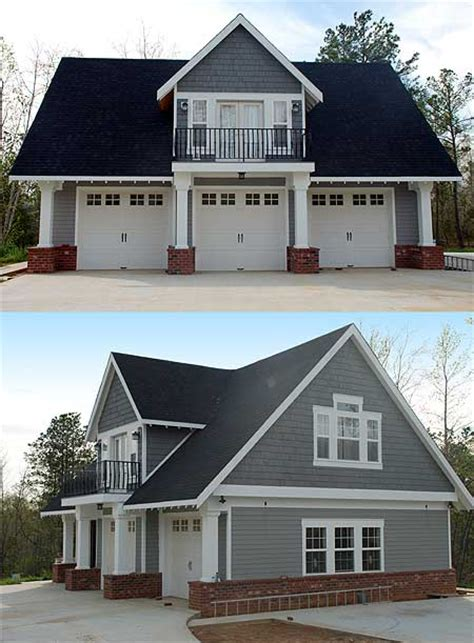house plans with 2 separate attached garages double duty 3 car garage cottage w living quarters hq