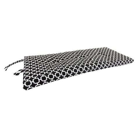 black bench cushion outdoor outdoor settee bench cushion black white geometric target
