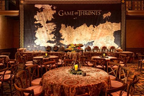 Of Thrones Decorations by Imagery From The Show Was Used Throughout The Decor
