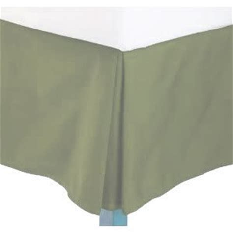 green bed skirt buy queen size solid bed skirt with 14 drop sage green amz 3 ishamnenitak