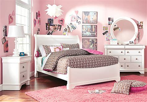 oberon white 6 pc sleigh bedroom bedroom sets white