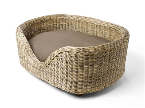 wicker dog bed raised oval rattan dog bed from charley chau limited buy now