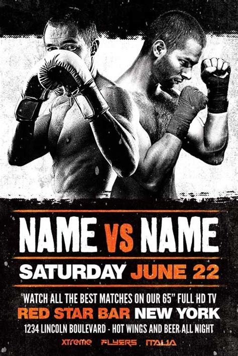 free sports flyer templates free boxing flyer template http xtremeflyers free