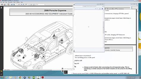 service manuals schematics 2008 porsche cayenne security system porsche cayenne 2003 2008 service and repair manuals youtube