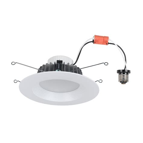 lowes retrofit recessed light utilitech pro 65 watt equivalent white led recessed