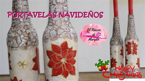 candelabros en botellas plasticas como hacer candelabros navide 209 os con botellas diy vintage