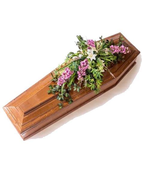 sognare fiori finti copri bara moderno con lilyum e delphinium artificiali