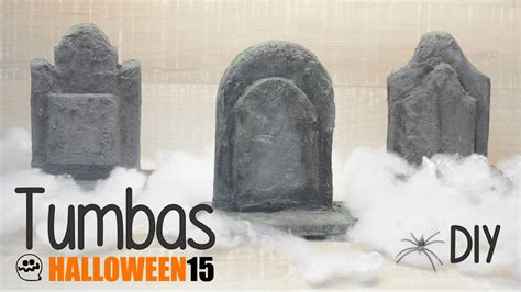 imagenes de halloween tumbas haz tus propias tumbas halloween diy viyoutube